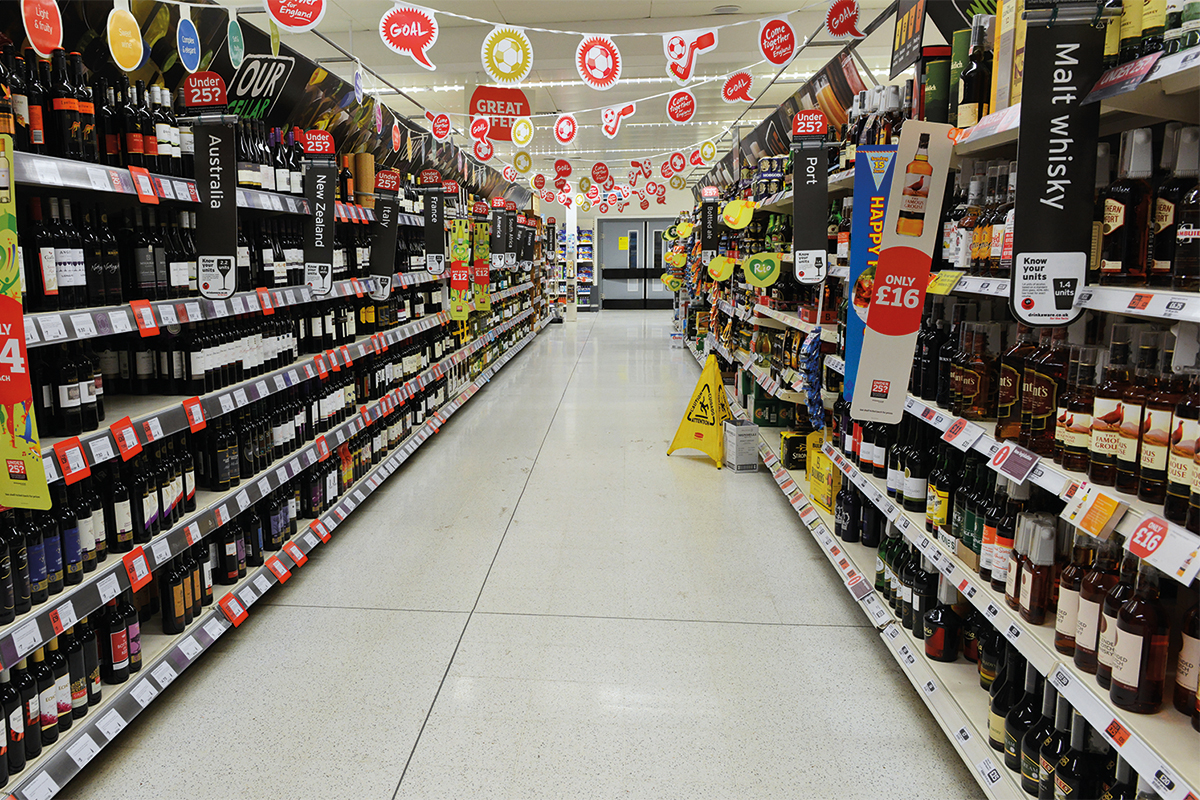 Supermarket wine isle