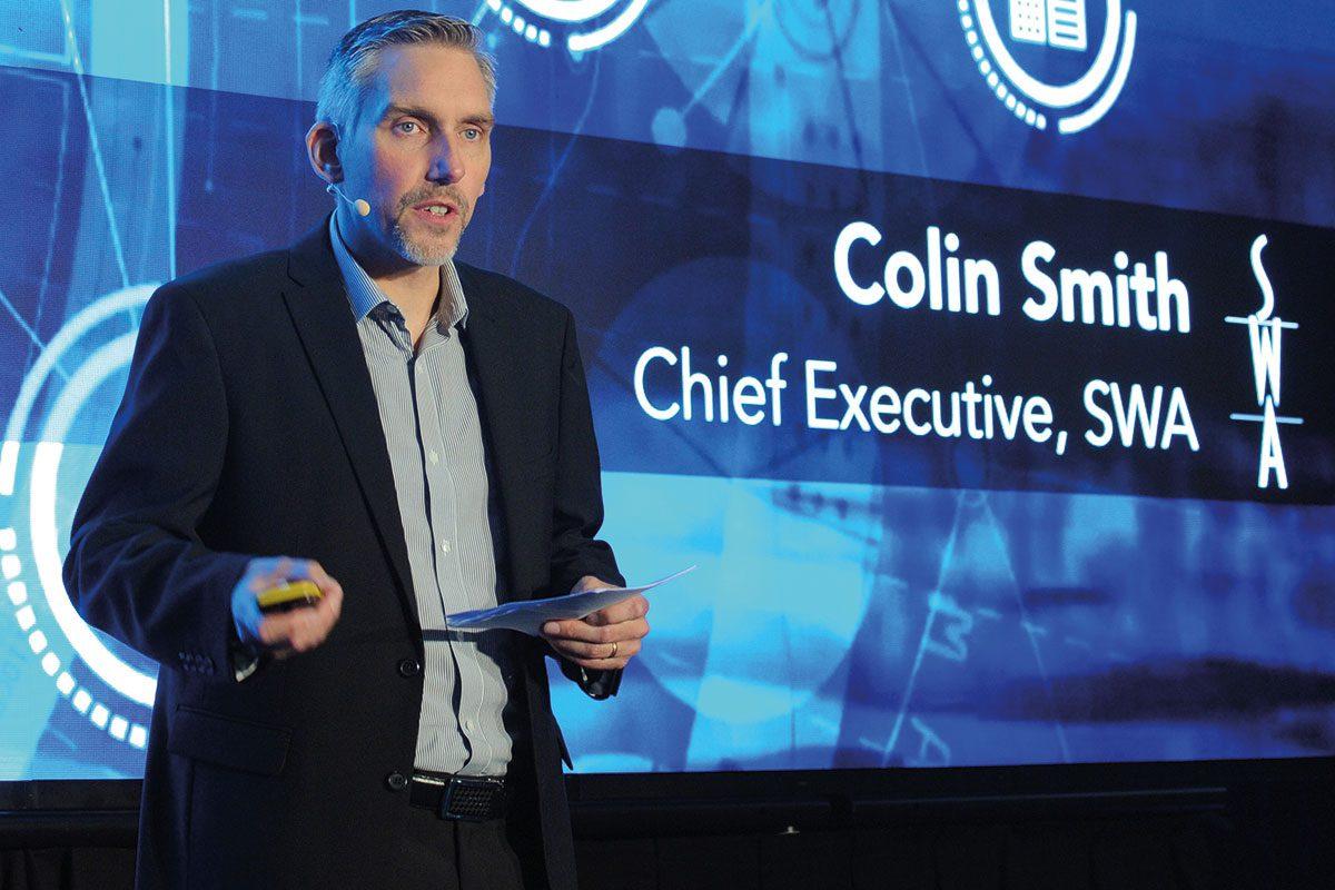 Colin Smith presenting